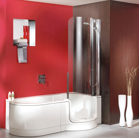 artweger twinline tub shower Tub Shower from Artweger   TwinLine showers