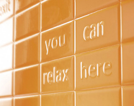 ascot tiles pun 2 Pun Collection Tiles from Ascot Ceramiche   get your message across without saying a word