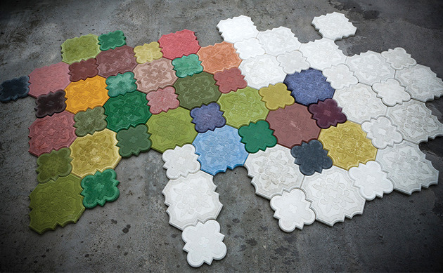 colored concrete tile from ivanka flaster 1 thumb 630x389 9078 Colored Concrete Tile: Flaster from Ivanka