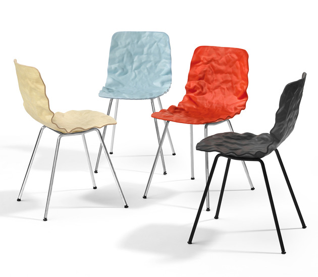dent chair by bla station 1 thumb 630x549 9194 Contemporary Crumpled Dent Chair by Bla Station