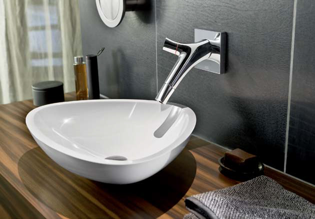 Philippe Stark faucets: Axor Starck Organic by Hansgrohe
