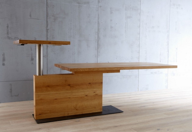 schulte design pavos computer table for sitting and standing 5 thumb 630x433 9637 Cool Computer Table for sitting and standing by Schulte Design