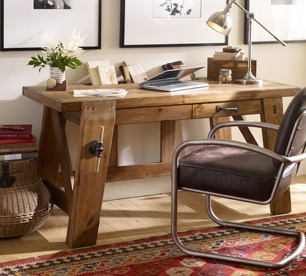 bench style%20 office desks from pottery barn small and large hendrix 1 thumb 630x567 16872 Bench Style Office Desks from Pottery Barn   small and large Hendrix