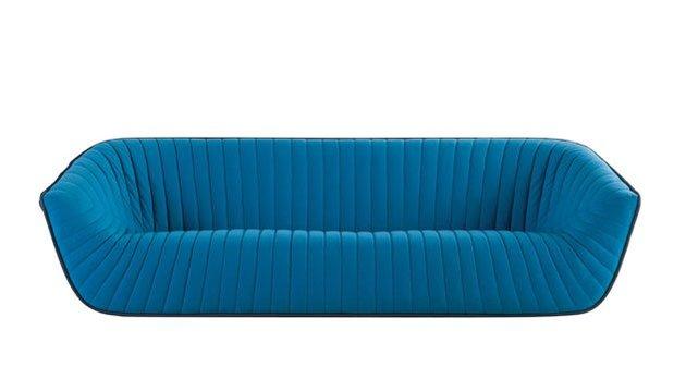 contemporary nautil sofa by cedric ragot for roche bobois 2 thumb 630x359 17658 Chic Blue Sofa from Roche Bobois   Nautil by Cedric Ragot