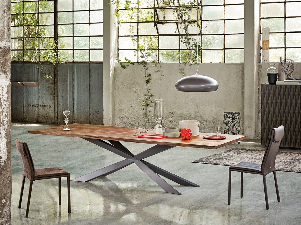 Dining Table with Irregular Solid Wood Edges by Cattelan ...