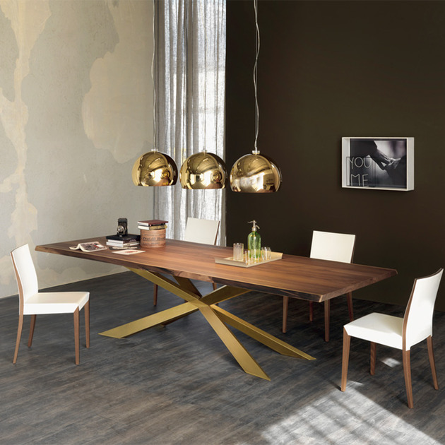 dining table with irregular solid wood edges by Cattelan Italia 2 thumb 630x630 17625 Dining Table with Irregular Solid Wood Edges by Cattelan Italia
