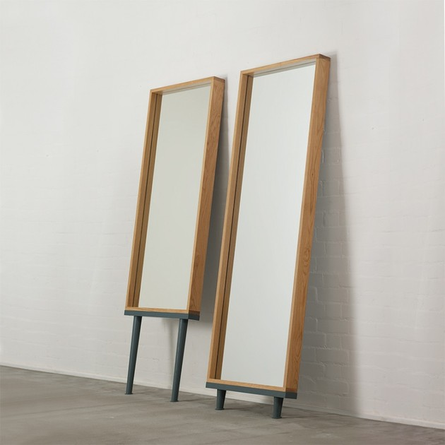 modern floor standing mirrors on legs in oak 1 thumb 630x630 16570 Modern Floor Standing Mirrors on Legs in Oak