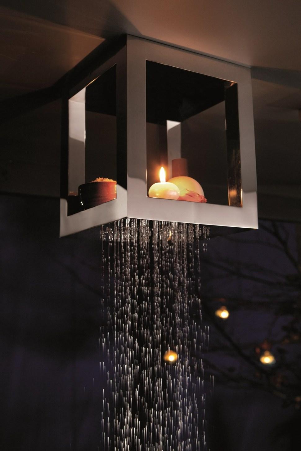 Overhead Shower Head Shelves - Bougies from Ritmonio by Peter Jamieson