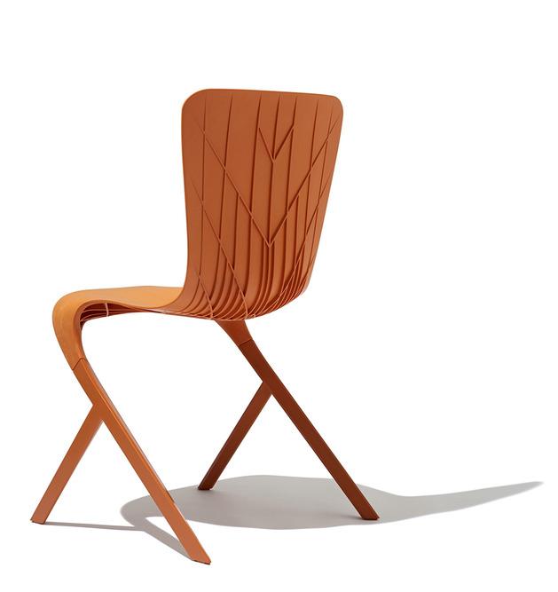 skin chair david adjaye knoll orange thumb 630x667 14514 Skin and Skeleton Chairs by David Adjaye from Knoll