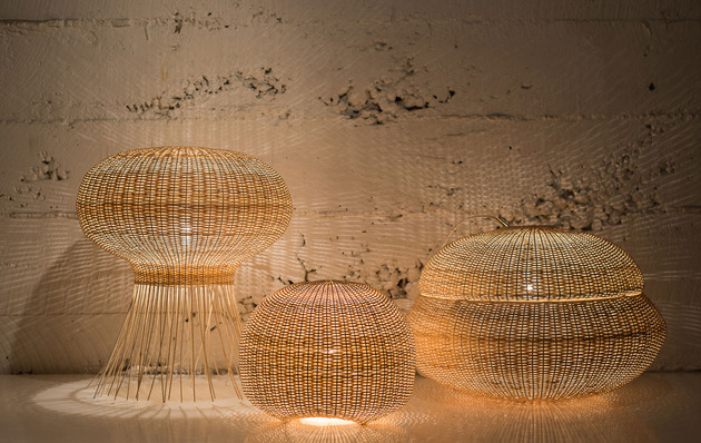 wicker lamps from made in mimbre 2 thumb 630x398 15754 Wicker Lamps from Made in Mimbre