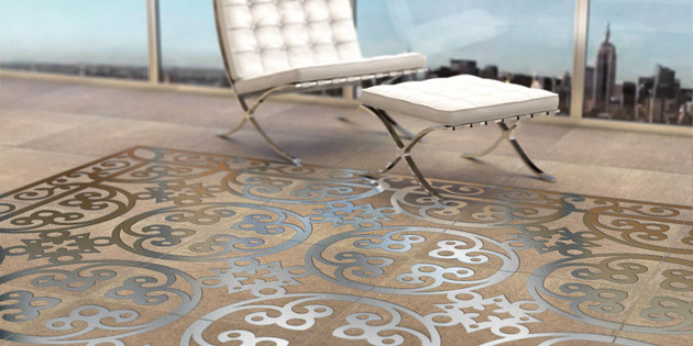 engineered polymer concrete tile with embedded metal decoration by decotal 5 thumb 630x315 20626 Engineered Polymer Concrete Tile with Embedded Metal Decoration by Decotal