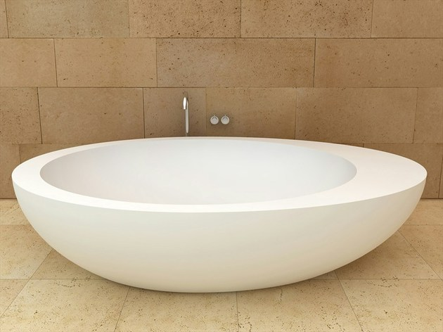 freestanding oval ceramic bath by ceramica cielo 1 thumb 630x472 18095 Freestanding Oval Ceramic Bath by Ceramica Cielo