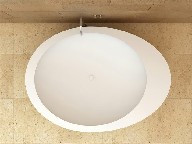 freestanding oval ceramic bath by ceramica cielo 2 thumb 630x472 18097 Freestanding Oval Ceramic Bath by Ceramica Cielo