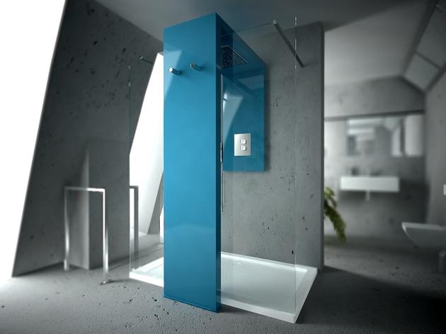 heated towel rail shower combo by brandoni monolith 1 thumb 630x472 22629 Radiator Shower Combo by Brandoni: Monolite