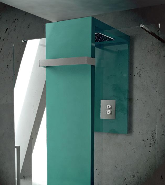 heated towel rail shower combo by brandoni monolith 2 thumb 630x704 22631 Radiator Shower Combo by Brandoni: Monolite