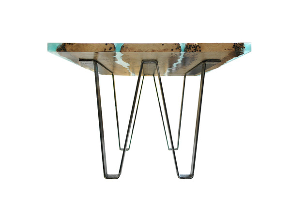 poetic wood and resin boat inspired dining table 2 thumb 630x418 17924 Poetic Dining Table Made of Briccola Wood