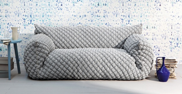 quilted goose down sofa with removable cover nuvola from gervasoni by paola navone 2 thumb 630x328 20297 Quilted Goose Down Sofa with Removable Cover   Nuvola from Gervasoni by Paola Navone