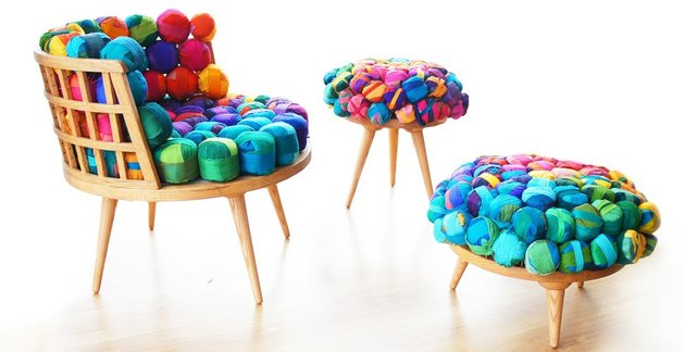 recycled silk furniture by meb rure 1 thumb 630x324 18256 Recycled Silk Furniture by Meb Rure
