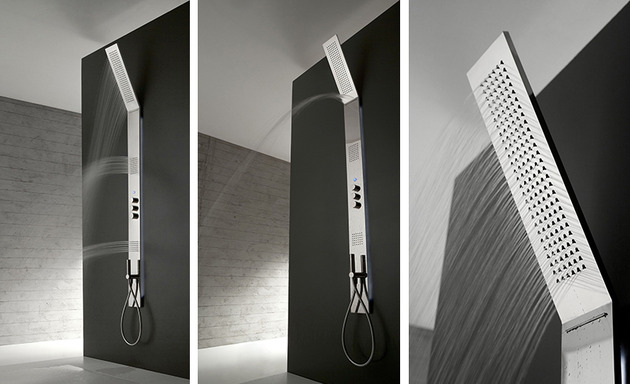 vertical shower head oblique by zazzeri 2 thumb 630x384 21459 Vertical Shower Head Oblique by Zazzeri