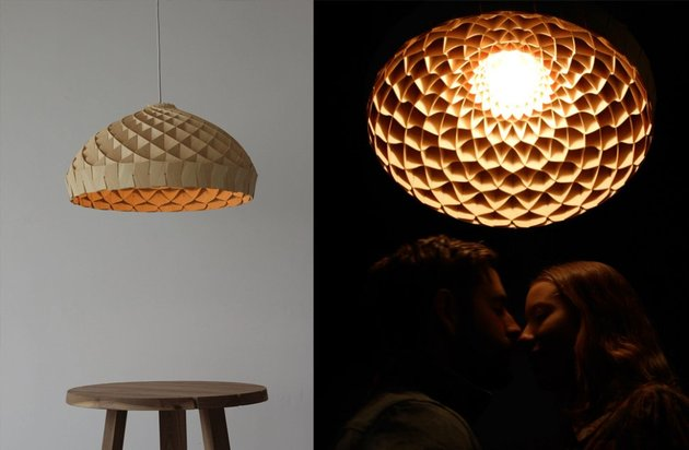 woven bamboo veneer pendant lighting by edward linacre 2 thumb 630x412 19762 Woven Bamboo Veneer Pendant Lighting by Edward Linacre