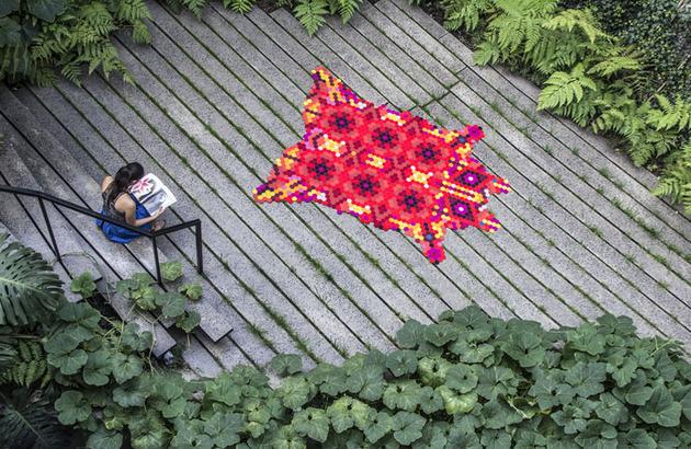 colorful huichol rug by elissa medina 1 thumb 630x410 24490 Colorful Huichol Rug by Elissa Medina