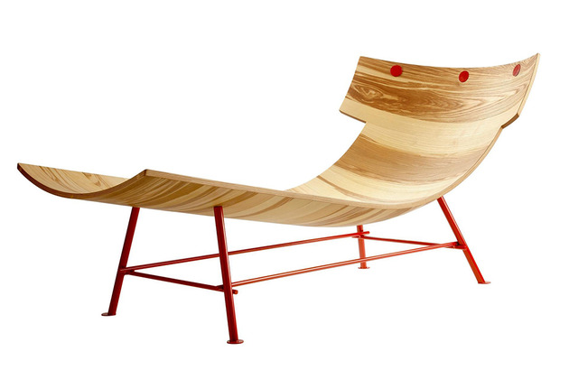 molded wood chaise longue by lop 2 thumb 630x420 23721 Molded Wood Chaise Longue by LOP