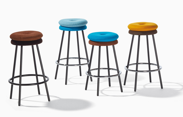 padded chairs stools and footstools%20by richard lampert 2 thumb 630x403 24479 Padded Chairs, Stools and Footstools by Richard Lampert