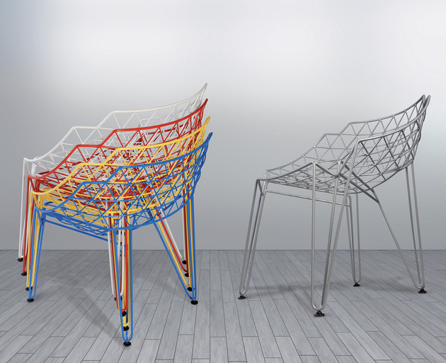continuous wire chair by wilde spieth 2 thumb 630x512 27308 Continuous Wire Chair by Wilde + Spieth: CU!