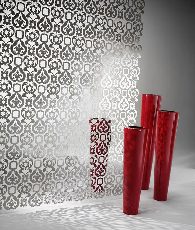 decorative sheet metal partition de%20 castelli 1 reflection thumb 630x739 28343 Decorative Sheet Metal Partition by De Castelli