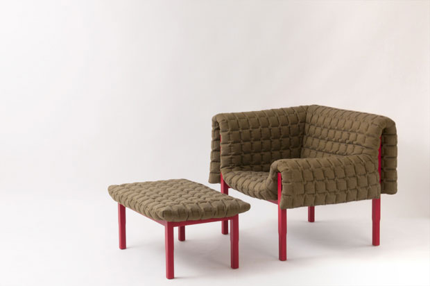 armchair ruche by ligne roset completes collection. Black Bedroom Furniture Sets. Home Design Ideas
