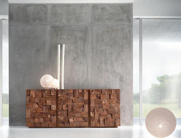 random sized wood blocks featured oak collection 2 cabinet thumb 630x479 28351 Random Sized Wood Blocks Featured in Oak Collection