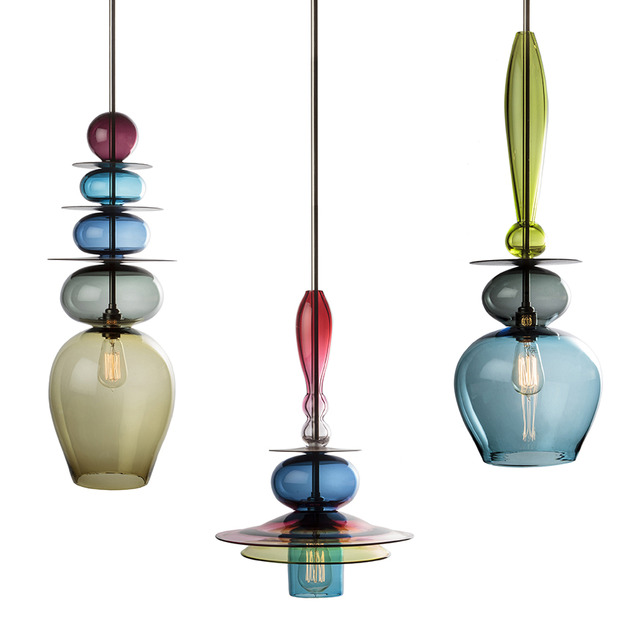 stacked glass light chandeliers by esther patterson 1 thumb 630x630 28003 Stacked Glass Light Chandeliers by Esther Patterson