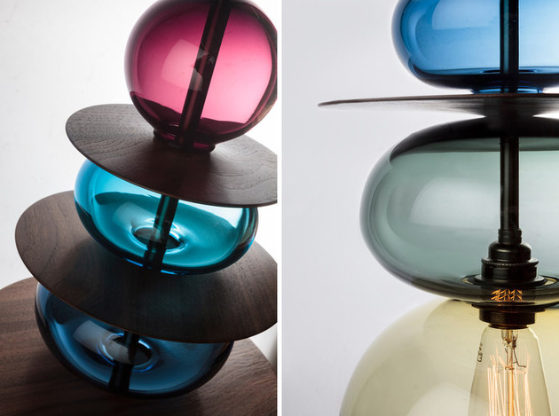 stacked glass light chandeliers by esther patterson 2 thumb 630x469 28005 Stacked Glass Light Chandeliers by Esther Patterson