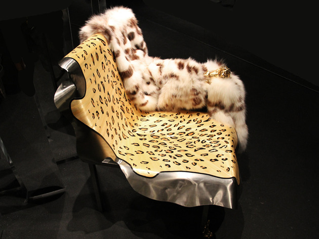 chaise lion comfy abstract expression metamorphosis 1 thumb 630x472 30120 Leather and Fur Chaise Lion by Maria Pergay for Fendi