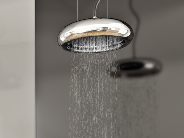 stylish sospesa shower head through ponsi 1 thumb 630xauto 32835 Stylish Sospesa Rain Shower by Ponsi