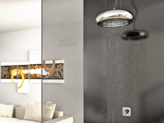 stylish sospesa shower head through ponsi 2 thumb 630xauto 32837 Stylish Sospesa Rain Shower by Ponsi