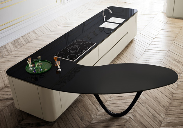 sculptural kitchen island worktop by snaidero and pininfarina 1 thumb 630xauto 37877 Sculptural Kitchen Island Worktop by Snaidero and Pininfarina