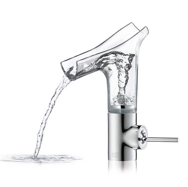 astonishing bathroom faucet by hansgrohe 1 thumb 630xauto 39257 Astonishing Faucet with Clear Glass Spout: Axor Stark V