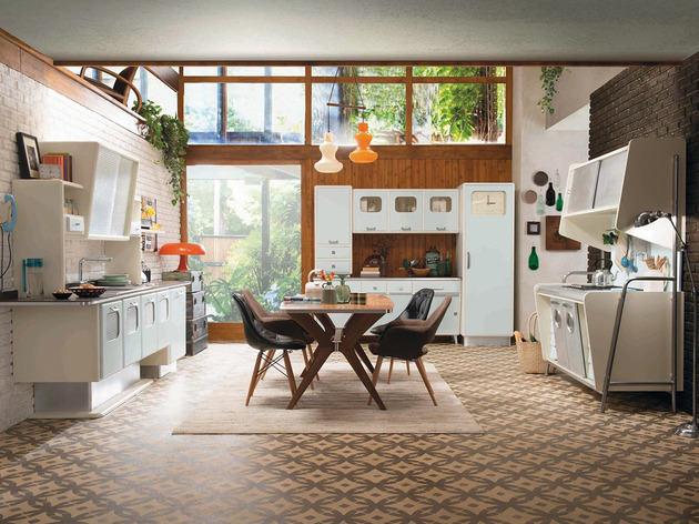 retro kitchen with 1950s look st louis eurocucina 1 thumb 630xauto 39275 Retro Kitchen with 1950s Flare: St. Louis by Marchi Cucine