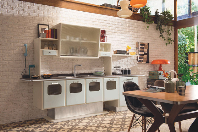 retro kitchen with 1950s look st louis eurocucina 2 thumb 630xauto 39277 Retro Kitchen with 1950s Flare: St. Louis by Marchi Cucine