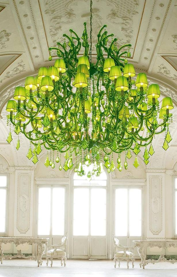spectacular lime green chandeliers by masiero ottocento collection 1 thumb 630x983 42537 Spectacular Lime Green Chandeliers by Masiero: Ottocento Collection