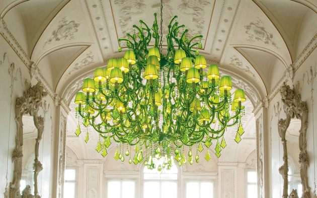 spectacular lime green chandeliers by masiero ottocento collection 2 thumb 630xauto 42539 Spectacular Lime Green Chandeliers by Masiero: Ottocento Collection
