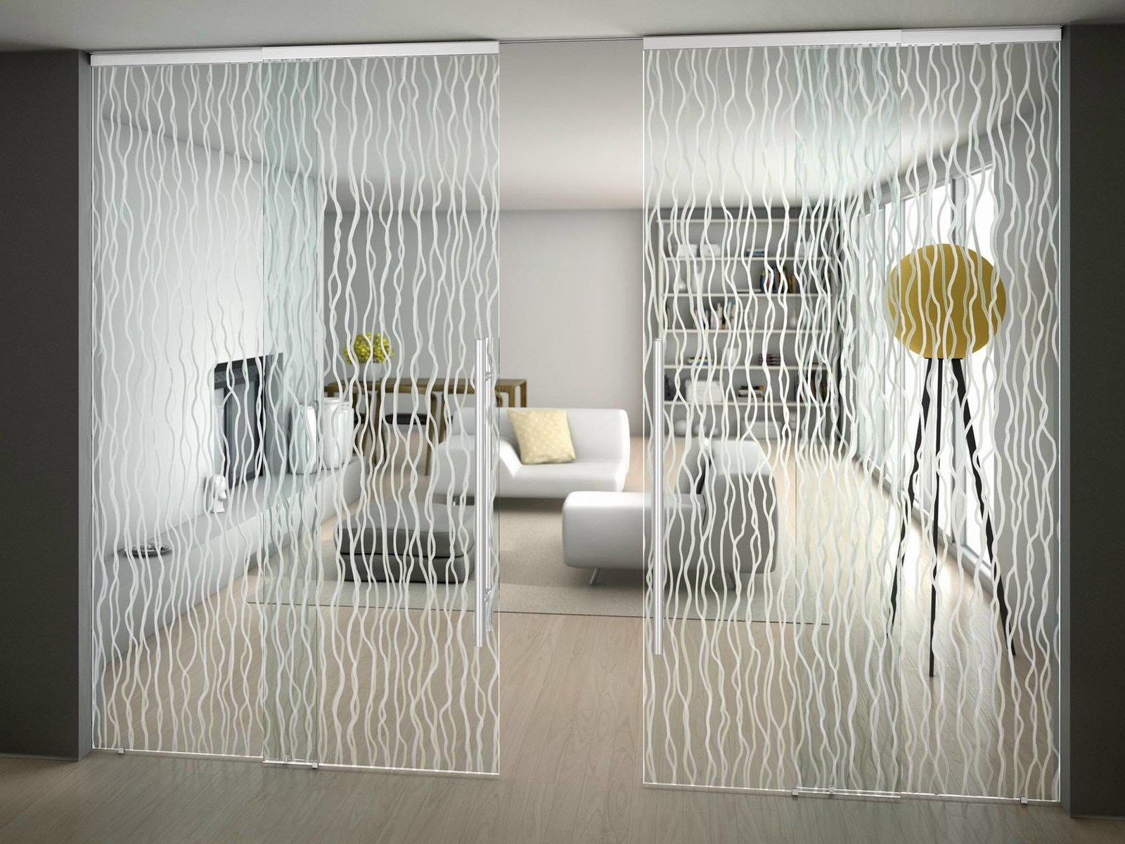 Suspended Art Glass Doors Sinthesy By Foa