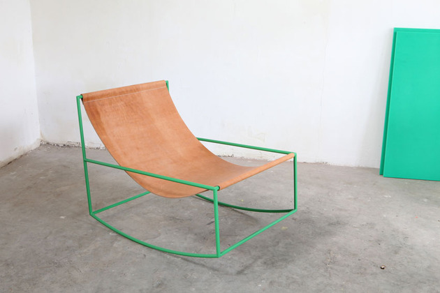 comfy cozy first rocking chair muller van severen 2 thumb 630xauto 43642 Can Minimalist be Cozy? Aesthetically Pleasing Rocking Chair by Muller Van Severen