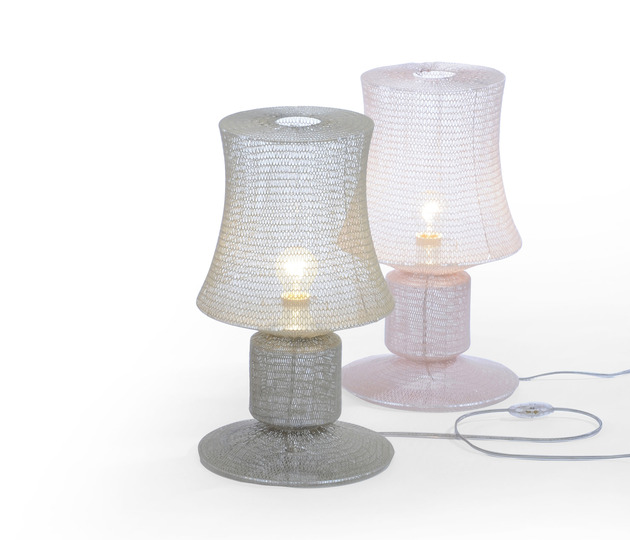 delicately soft knitted lamps studio meike harde 2 thumb 630xauto 42868 Delicately Soft Knitted Lamps by Studio Meike Harde