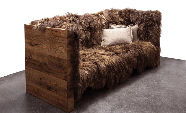 caressable snuggable sentient furniture 2 sofa thumb 630xauto 45693 Long Wool Icelandic Sheepskin Furniture by Sentient