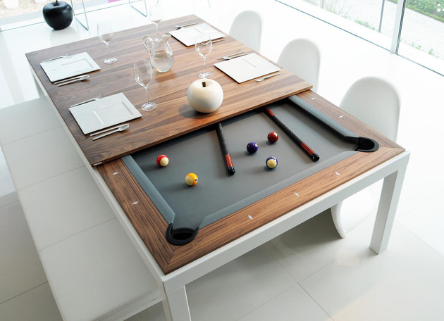 dinning table and pool table combination fusion tables 1 thumb 630xauto 45654 Dining and Pool Table Combination: Fusion Tables