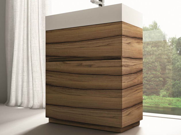 cubik walnut vanity by ideageoup 2 thumb 630xauto 48921 Fashion and Function Combined in Cubik Walnut Vanity