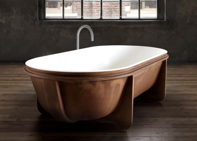 falper controstampo freestanding bathtub 2 thumb 630xauto 47608 Stunning Bathtub by Falper Exposes Everything