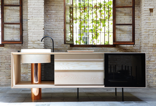 float kitchen miras modular units 4 thumb 630xauto 49327 Wood and Copper Mobile Kitchen by Miras